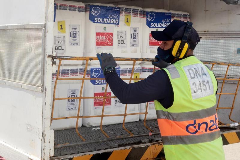 Pará recebe 215.750 doses de vacina contra a Covid-19