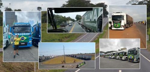 Caminhoneiros bolsonaristas bloqueiam rodovias federais