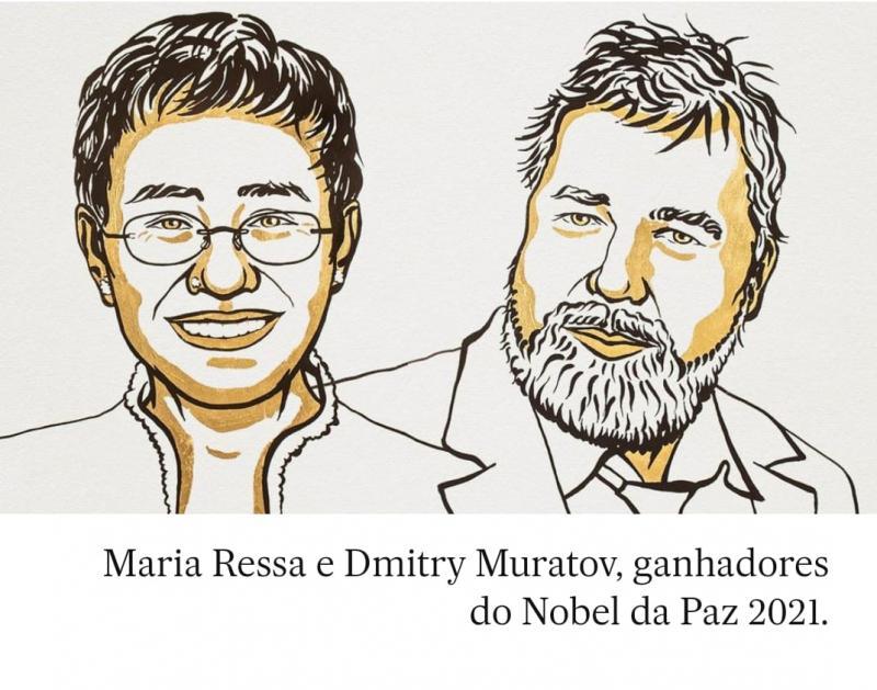 Nobel da Paz para dois jornalistas pela luta à liberdade de expressão e combate às fakes news