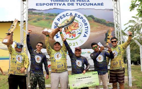 Os vencedores do 1° Torneio MAWÉ de Pesca Esportiva de Maués