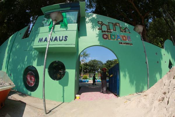 Prefeitura de Manaus realiza evento-teste de reinauguração do parque Cidade da Criança