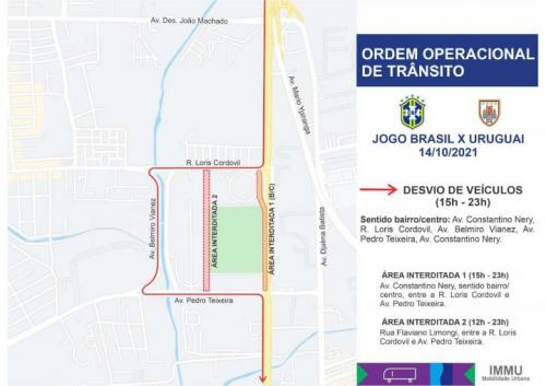 Prefeitura interdita rua ao lado da Arena da Amazônia nesta quinta (14)