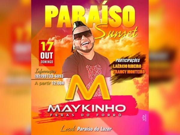 Maykinho 'Feras do Forró' agita o Paraíso do Lazer neste domingo (17), em Parintins