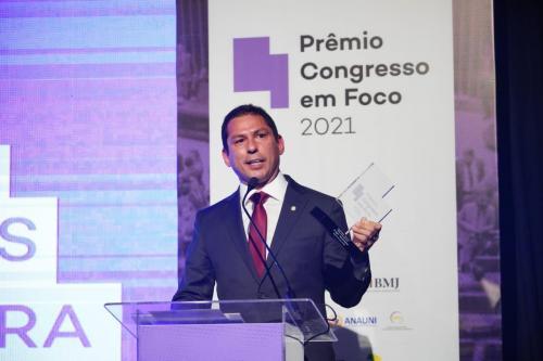 Marcelo Ramos recebe prêmio Congresso em Foco, como melhor deputado de 2021