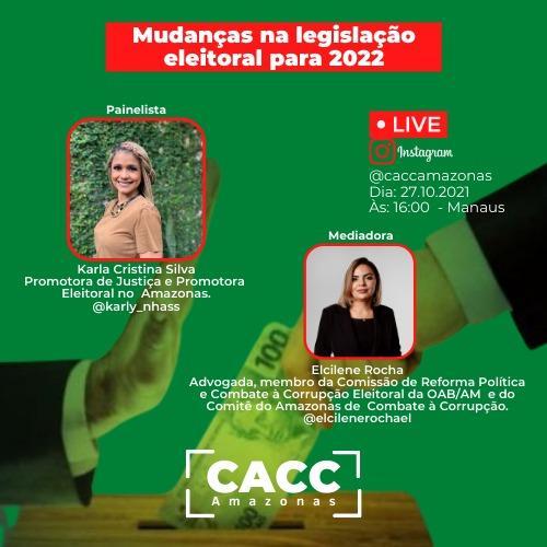 Comitê do AM realiza palestra gratuita sobre mudança na legislação eleitoral para 2022