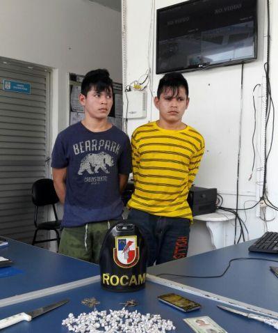 Polícia Militar detém irmãos gêmeos envolvidos no tráfico de drogas em Iranduba