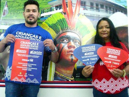 Sejusc realiza campanha de combate à violência e ao abuso sexual contra crianças e adolescentes em Parintins
