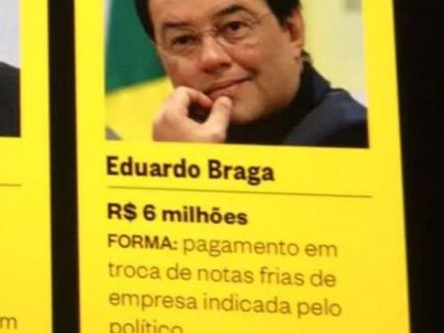 Revista Época publica planilhas e notas de propina da JBS e cita Braga