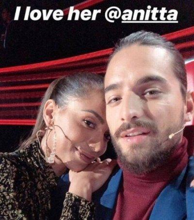 Anitta ganha declaração de Maluma após reatarem amizade