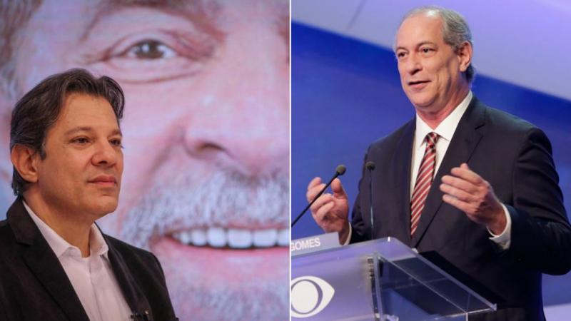 Ciro: Se Haddad for para o segundo turno, voto nele
