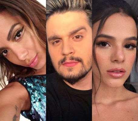 Luan Santana assume que já ficou com Anitta e Bruna Marquezine
