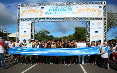 Manaus é a primeira cidade do Brasil a realizar maratona para refugiados