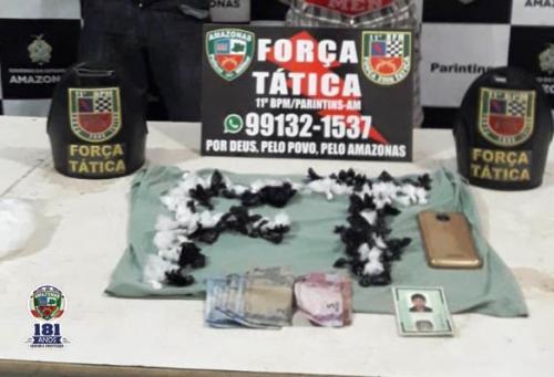 PM prende homem por tráfico de drogas, em Parintins