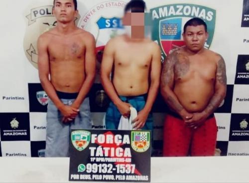 PM de Parintins prende acusados de tráfico de drogas no Paulo Corrêa