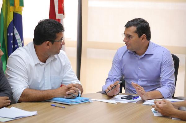 Wilson Lima recebe prefeitos de Manacapuru e Urucurituba