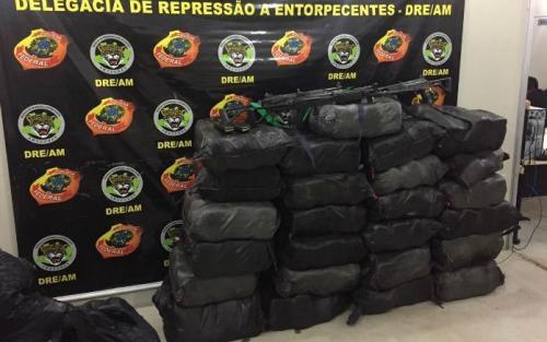 Com 800kg, maior apreensão de cocaína do AM é feita após confronto em Urucará